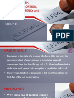 Legal medicine of pregnancy, abortion and birth in India
