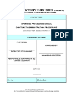 OPM 1.1 - Contract Administration Procedure