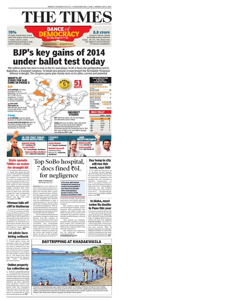 TOIPU_2019_05_06 pdf   Bharatiya Janata Party   Politics Of