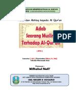 Adab Bersama Al Qur'an-1