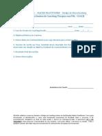 Fichas de Terapia e avaliação de coach e coachee