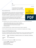 SAP Refurbishment Order Tutorial - Free SAP PM Training