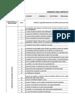 Formato de Inspeccion de Seguridad Industrial Marinella Diaz