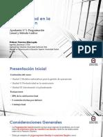 Productividad en la Construcción - Ayudantía N°1 PL y MG