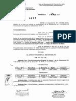Rectifíquese parcialmente el Anexo I de la Resolución N° 3141-DGE