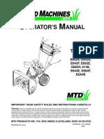 MTD Snow Blower Operator