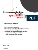 Programming for Data Analytics Introduction