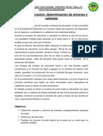 Edafologia Informe de Saturacion Tongo