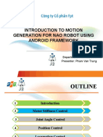 INTRODUCTION TO MOTION GENERATION FOR NAO ROBOT USING ANDROID FRAMEWORK