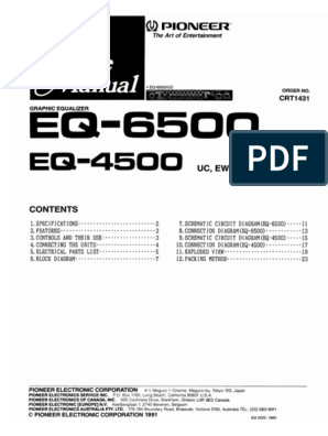 pioneer eq 4500,6500 pdf how to install equalizer to amplifier pioneer equalizer eq 4500 eq4500 4 pin
