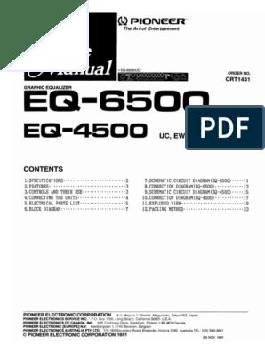 [TVPR_3874]  Pioneer EQ-4500,6500.pdf   Wiring Diagram Pioneer Eq 4500      Scribd