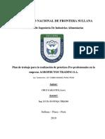 Modelo de informe de prácticas para ingeniería industrial