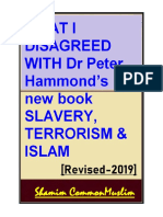 What i Disagree With Dr Peter Hammond