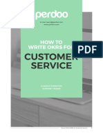 Example OKRs Customer Service