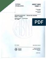 NBR-15961-1-2011 Alvenaria Estrutural Com Blocos de Concreto (Parte 1)