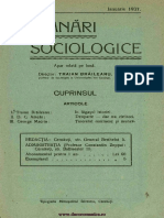 Insemnari Sociologice anul II, nr. 10, ianuarie 1937