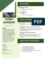 korby 2019 resume