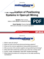 GPS Applications in open pit mining