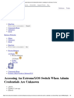 Accessing an ExtremeXOS Switch When Admin Credentials Are Unknown _ the Hub