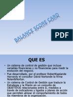 DIAPOSITIVAS Balance Score Card