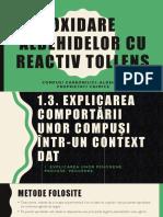 Oxidare Aldehidelor Cu Reactiv Tollens Seminar