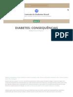 Consequências da diabetes