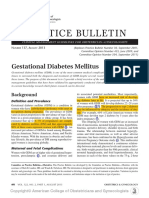 Gestational Diabetes Mellitus Acog Cop