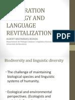 Restoration ecology and language revitalization