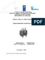 Manual de Transformadores Monofasicos
