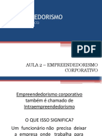 Empreendedorismo Corporativo - Aula 02