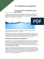 Stérilisateur UV utilisation en aquarium d.docx