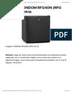 Frigobar VONDOM RFG40N (RFG 40-N)