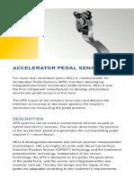 Accelerator Pedal Sensor HELLA En