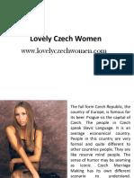 Match Making Sites in Czech - Www.lovelyczechwomen.com