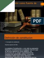 La Constitucion Como Fuente Del Derecho