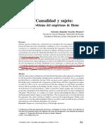 González Montero, Sebastián Alejandro - Causalidad y sujeto. El problema del empirismo de Hume