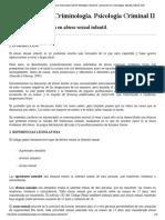 Evaluación psicológica en abuso sexual infantil. Psicología Criminal II. Licenciatura en Criminología. Marisol Collazos Soto.pdf