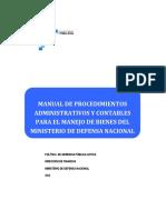 Manual de procedimientos administrativos y Financieros para el manejo de Bienes del MDN 2012.pdf