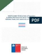 Orientaciones Técnicas Protocolo Personas Trans