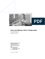 Voice Over Wireless LAN 4.1 Design Guide