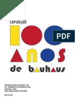 100 anos de Bauhaus. estudo do cartaz