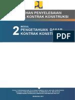 4e50d 319549Modul 02 - Pengetahuan Dasar Kontrak Konstruksi
