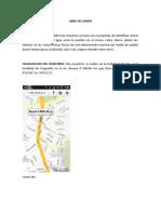 Libro de Campo Rio Tunjuelito