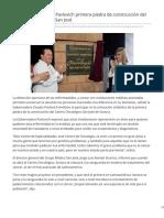 08-08-2017 Coloca Gobernadora Pavlovich primera piedra de construcción del Centro de Oncología San José-CanalSonora