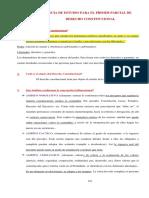 Guía de Estudio Para El Primer Parcial Derecho Constitucional