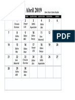 Cronograma Hidro Abril 2019