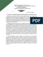 EL DOCENTE UNIVERSITARIO. REFLEXIONES DESDE LA PRAXIS DEL VIVIR.