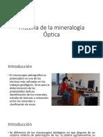 Historia de La Mineralogía Óptica