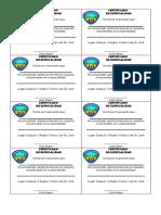 Certificados Especialidad Aventureros