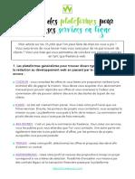 Liste Plateformes Pour Freelances Web